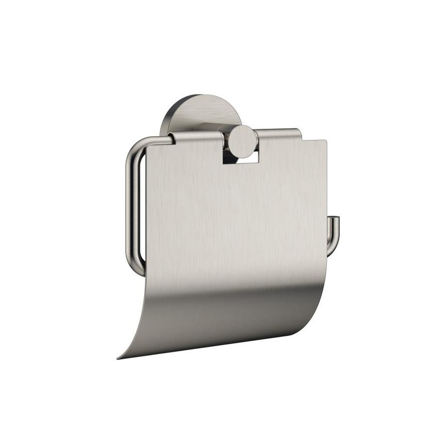 Jacuzzi Salone and Razzo Brushed Nickel Surface Mount Single Post With Arm Toilet Paper Holder