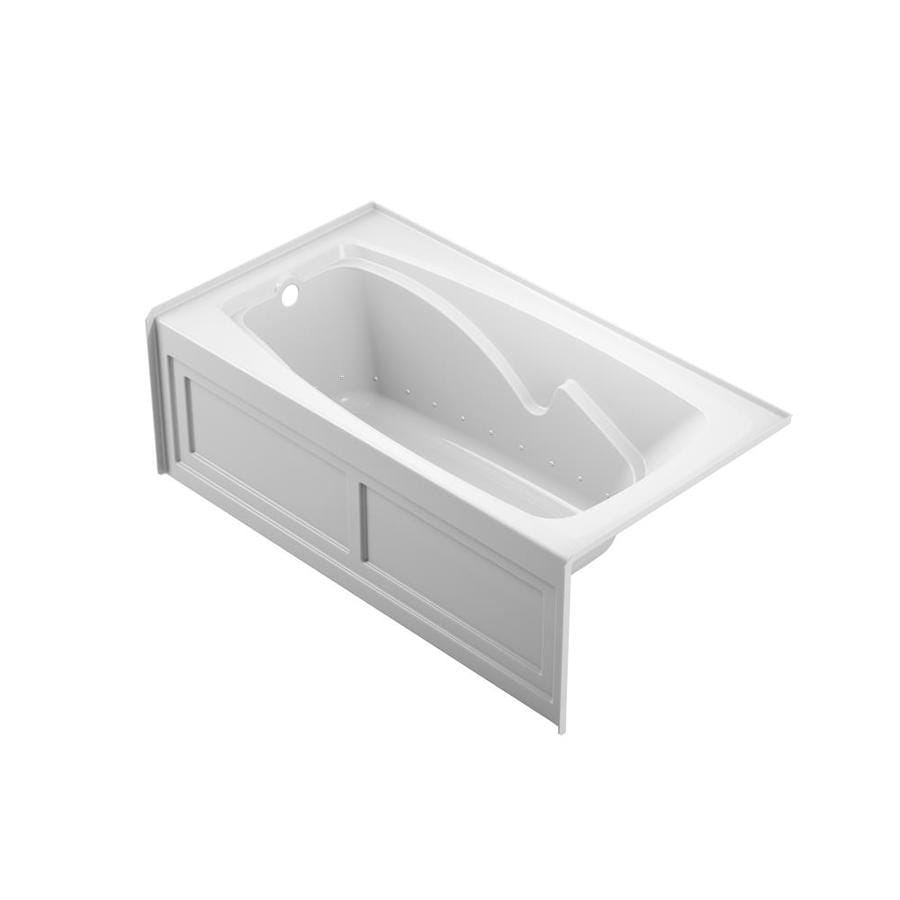 Shop Jacuzzi Abri 60-in White with Left-Hand Drain at Lowes.com