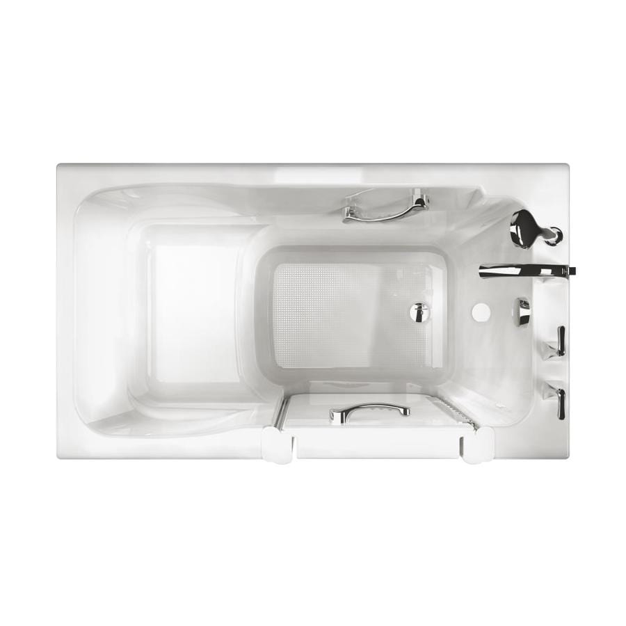Ristorre 52 In White Acrylic Walk In Bathtub With Right Hand Drain