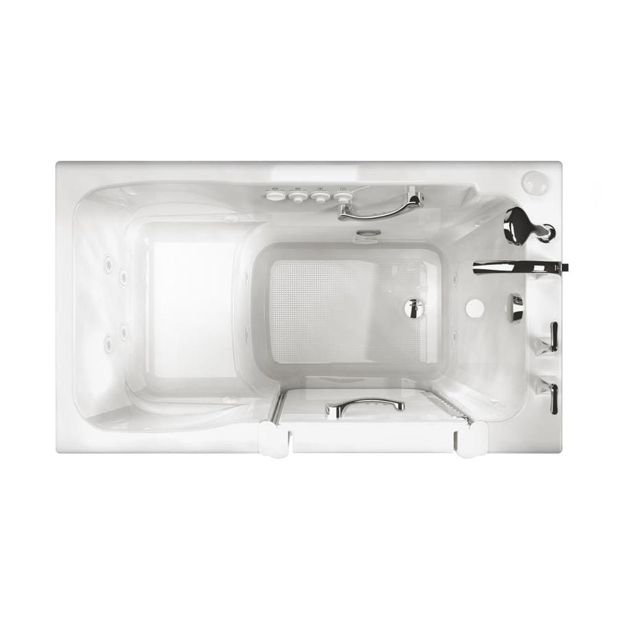 Ristorre 52-in White Acrylic Walk-In Whirlpool Tub And Air Bath with Left-Hand Drain