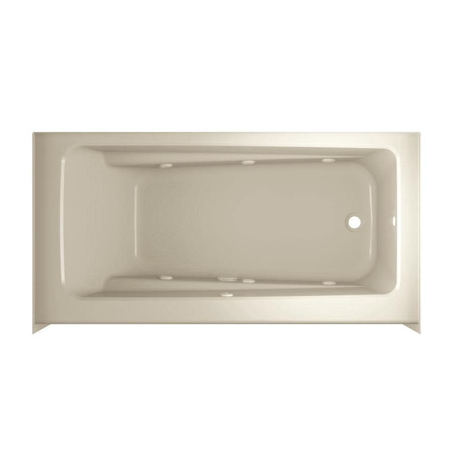 Jacuzzi Primo 60-in Almond Acrylic Skirted Whirlpool Tub with Right-Hand Drain