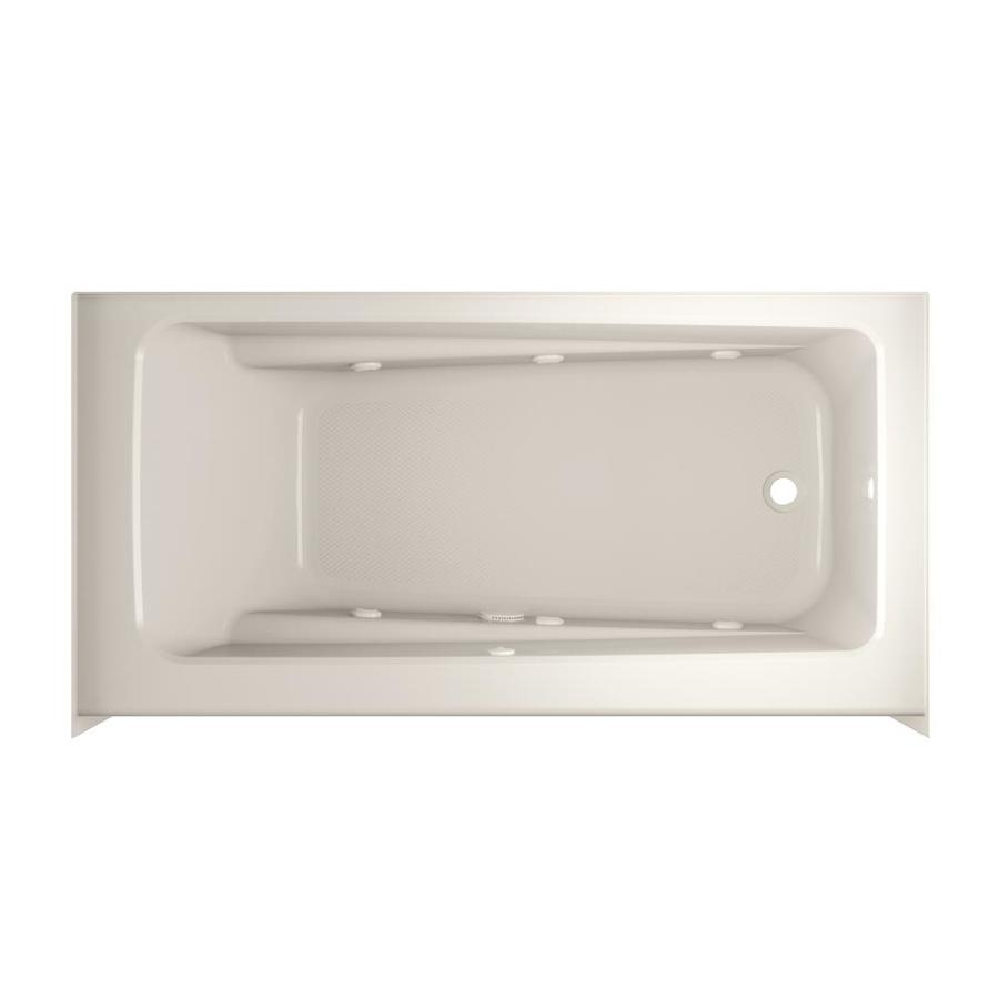 Jacuzzi Primo 60-in Oyster Acrylic Skirted Whirpool Tub with Right-Hand Drain