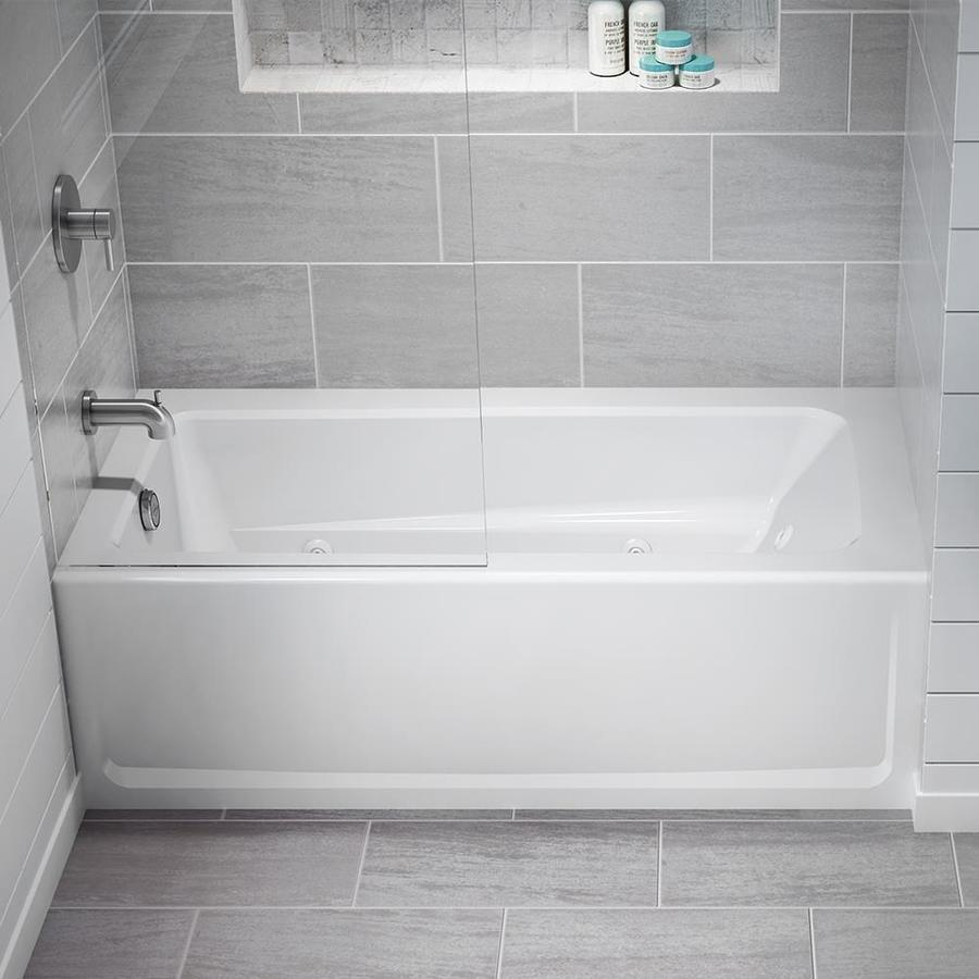 Shop Jacuzzi Primo 60-in White Acrylic Rectangular Left-Hand Drain ...