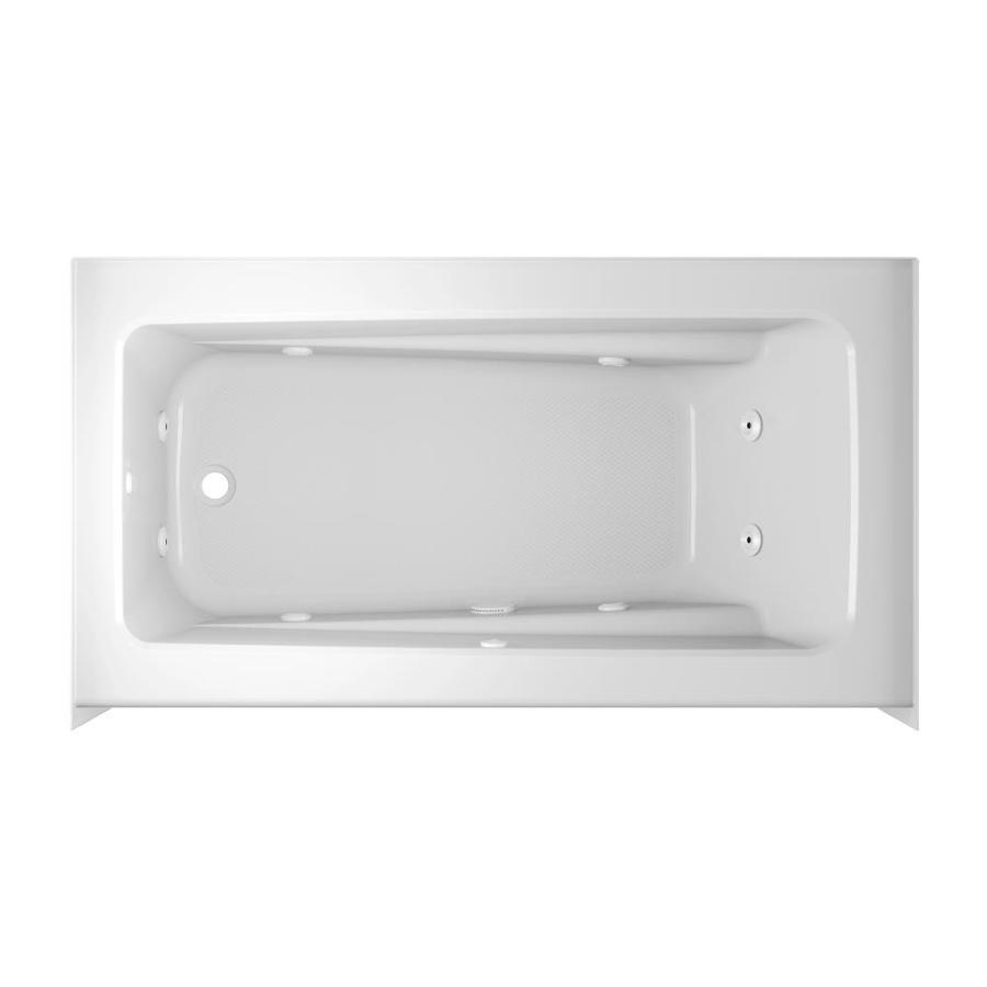 Shop Jacuzzi Primo 60-in White Acrylic Rectangular Left-Hand Drain ...