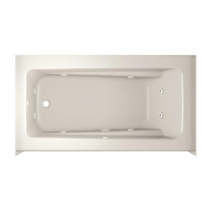 Jacuzzi Primo 60-in Oyster Acrylic Skirted Whirpool Tub with Left-Hand Drain