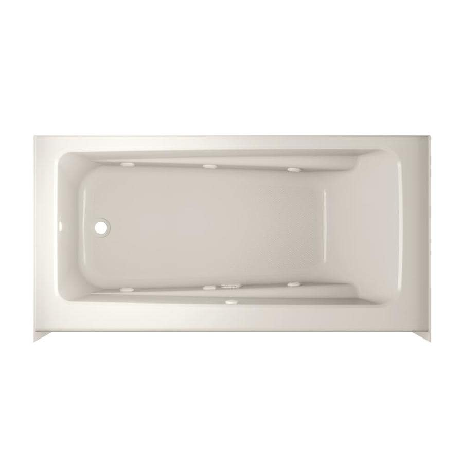 Shop Jacuzzi Primo 60-in Oyster Acrylic Skirted Whirlpool Tub with ...