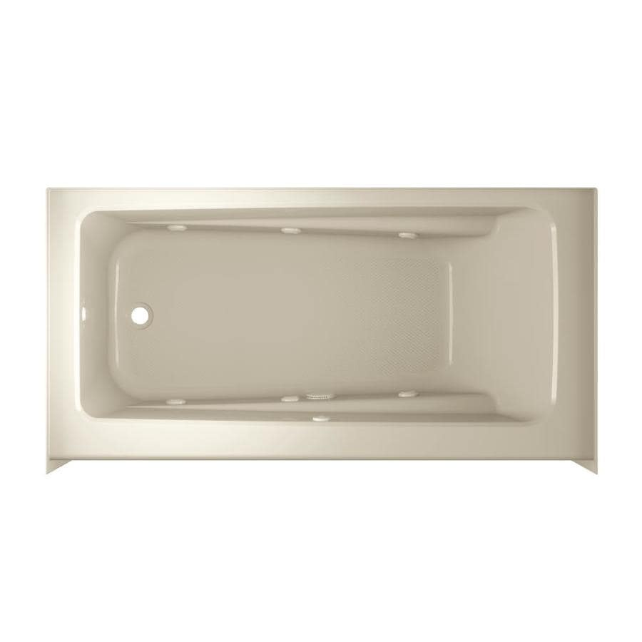 Jacuzzi Primo 60-in Almond Acrylic Skirted Whirpool Tub with Right-Hand Drain