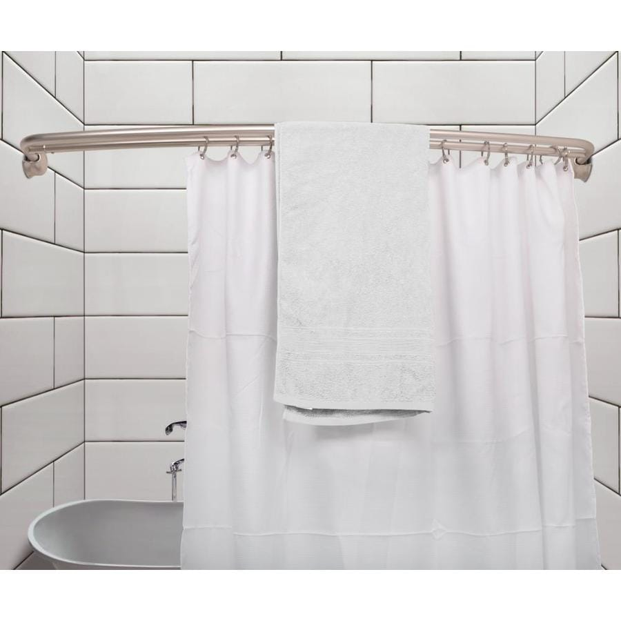 Jacuzzi 60 In To 72 In Brushed Nickel Fixed Double Curve Shower Rod In The Shower Rods Department At Lowes Com