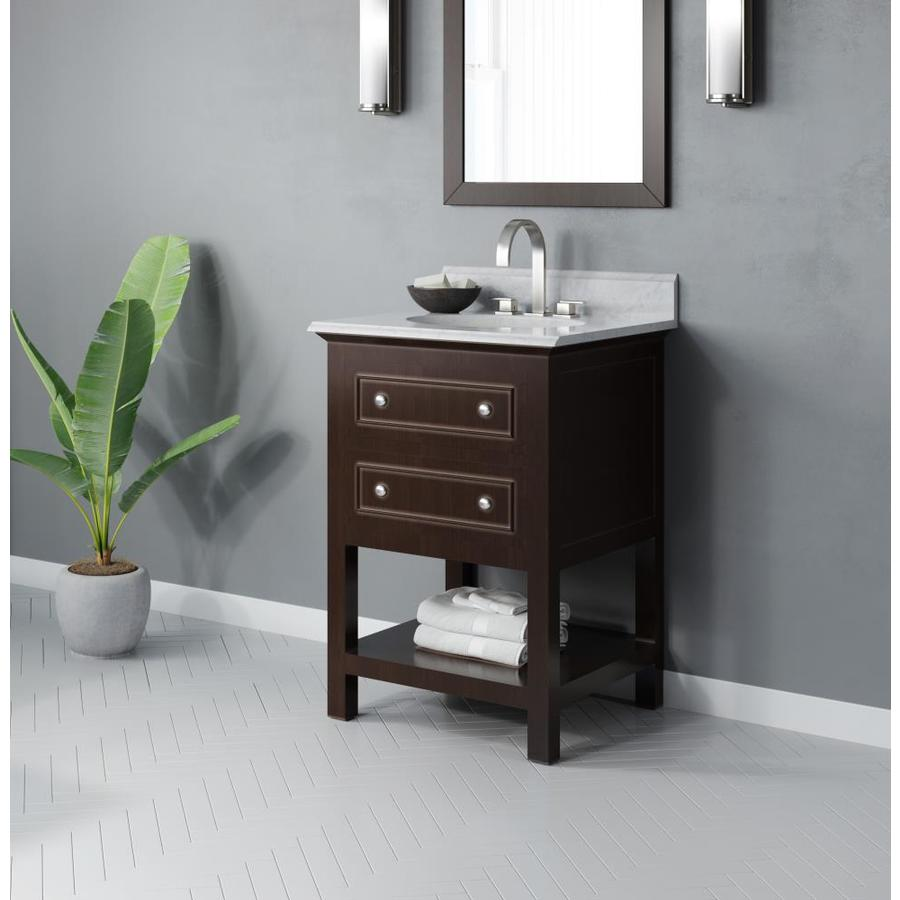 Jacuzzi Mincio 24-in Espresso Single Sink Bathroom Vanity ...