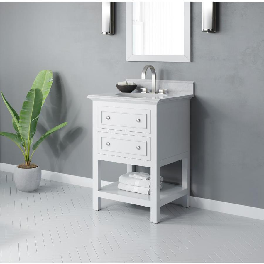 Jacuzzi Mincio 24 In White Single Sink Bathroom Vanity