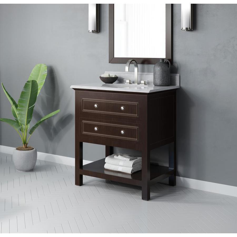 Jacuzzi mincio 30 in espresso single sink bathroom vanity - 30 bathroom vanity with marble top ...