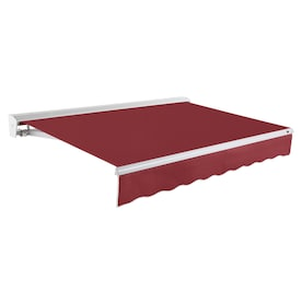 Nuimage Awnings 240 In Wide X 144 In Projection Taupe Solid Open Slope Patio Manual Retraction Awning In The Awnings Department At Lowes Com