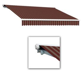 Beauty Mark 144 In Wide X 120 In Striped Vertical Manual Retractable Patio
