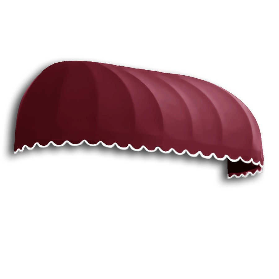 Awntech 76.5-in Wide x 36-in Projection Burgundy Solid Elongated Dome Window/Door Awning