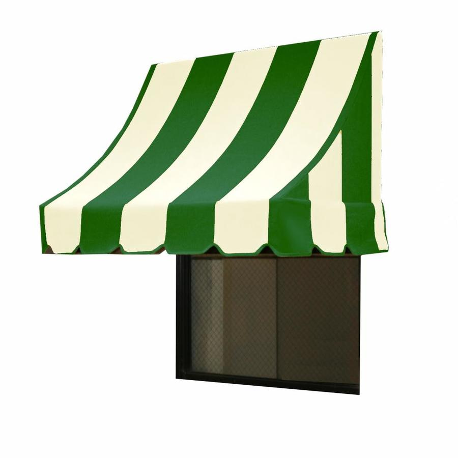 "Awntech 3' Beauty-Mark� Nantucket� (31""H X 24""D) Window/Entry Awning / Forest/White Stripe"