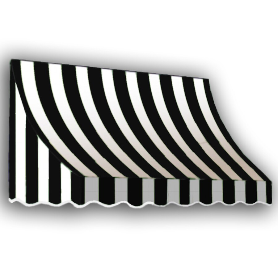 "Awntech 8' Beauty-Mark� Nantucket� (31""H X 24""D) Window/Entry Awning / Black/White Stripe"
