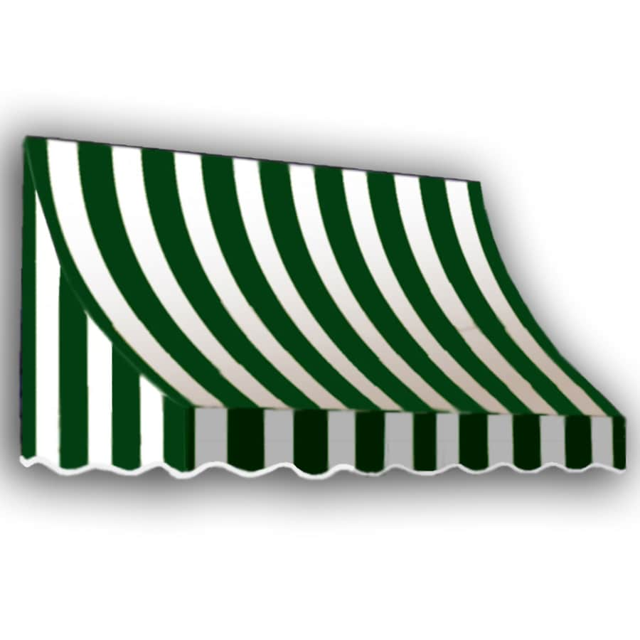 "Awntech 8' Beauty-Mark� Nantucket� (44""H X 36""D) Window/Entry Awning / Forest/White Stripe"