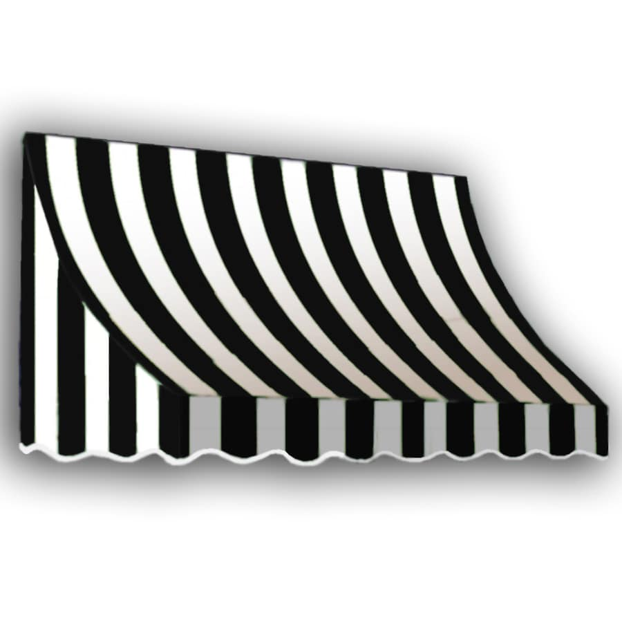 "Awntech 8' Beauty-Mark® Nantucket® (44""H X 36""D) Window/Entry Awning / Black/White Stripe"