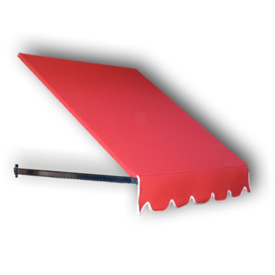 Awntech 52.5-in Wide x 30-in Projection Red Solid Slope Low Eave Window/Door Awning
