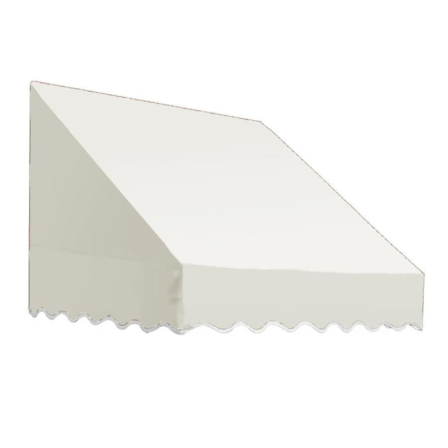 Awntech 52.5-in Wide x 36-in Projection White Solid Slope Low Eave Window/Door Awning