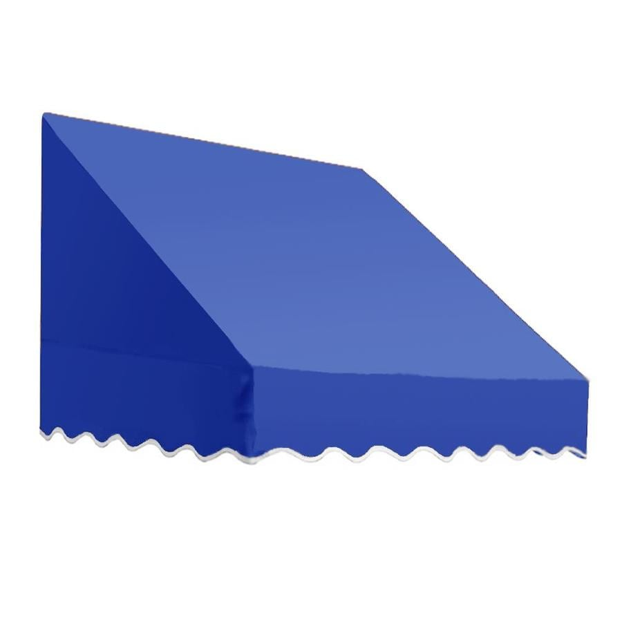 Awntech 88.5-in Wide x 36-in Projection Bright Blue Solid Slope Low Eave Window/Door Awning