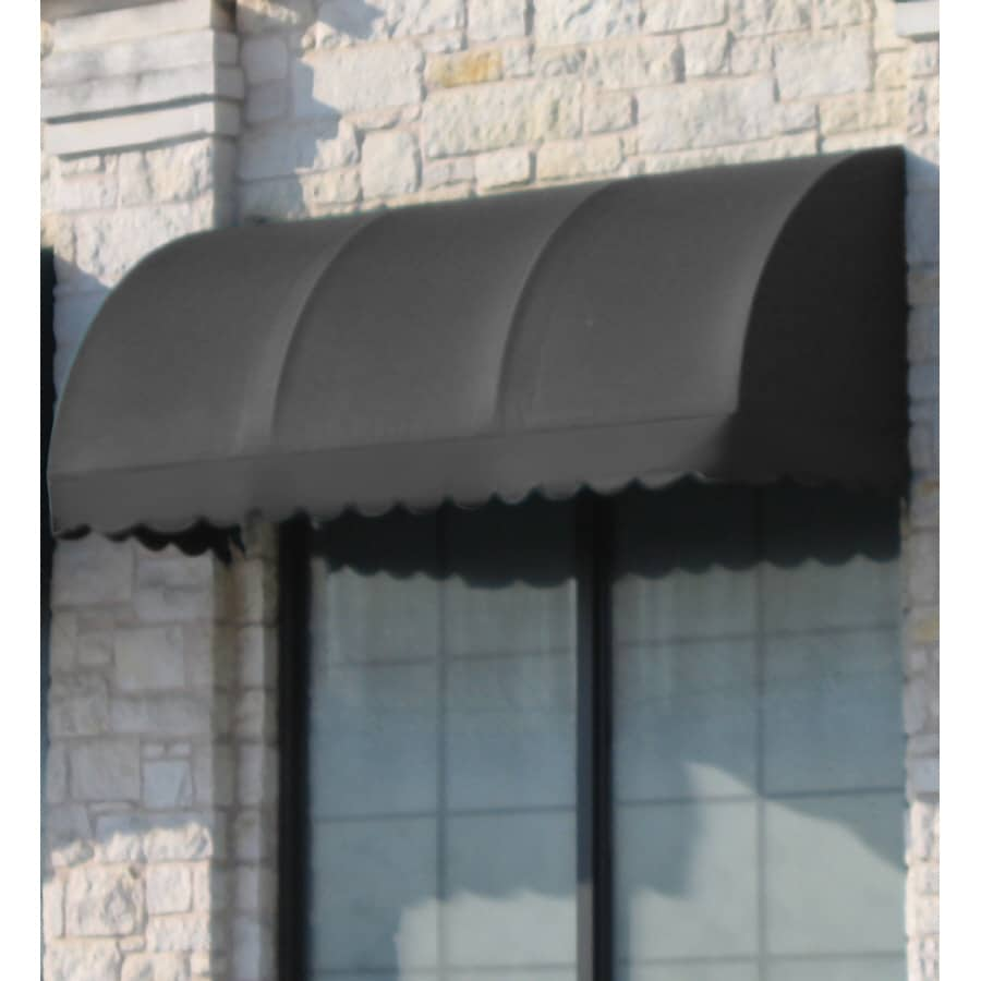 Awntech 40.5-in Wide x 36-in Projection Gray Solid Waterfall Window/Door Awning