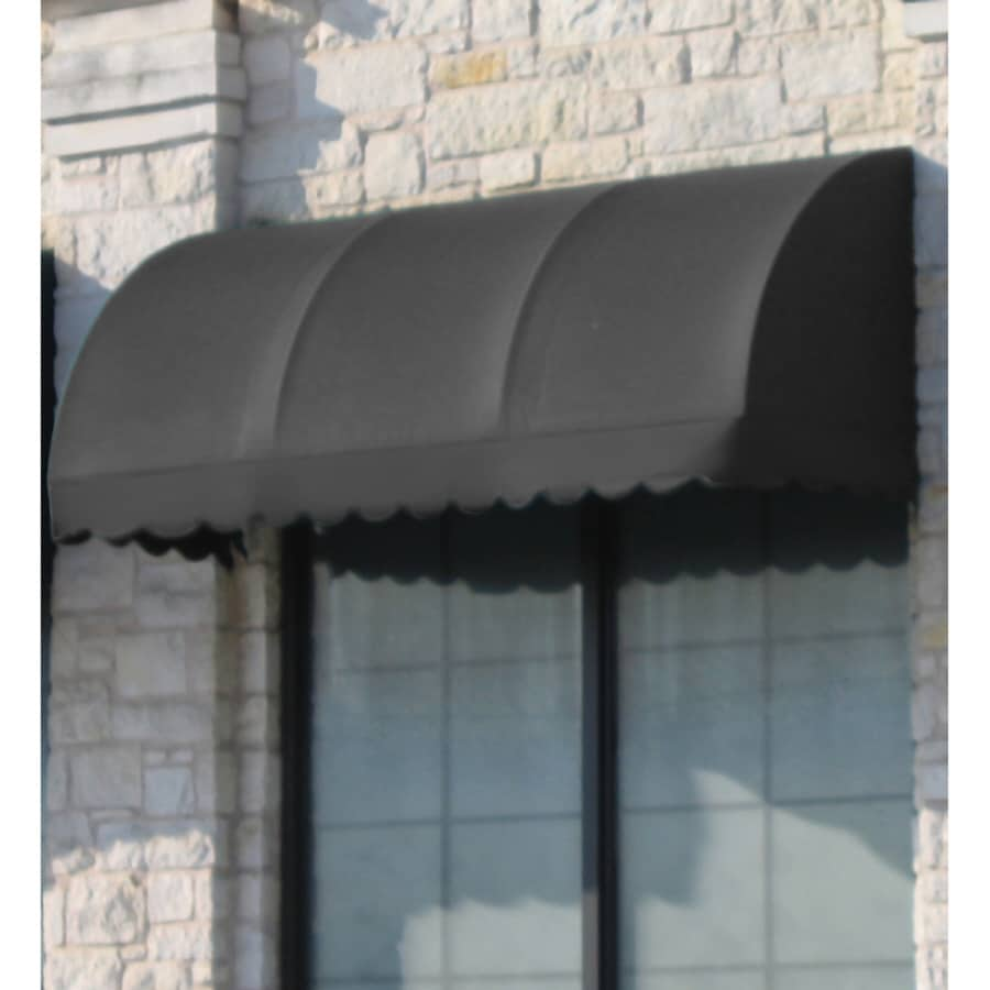Awntech 76.5-in Wide x 36-in Projection Gray Solid Waterfall Window/Door Awning
