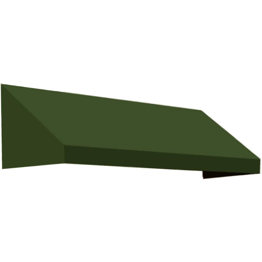 Awntech 124.5-in Wide x 24-in Projection Olive Solid Slope Window/Door Awning