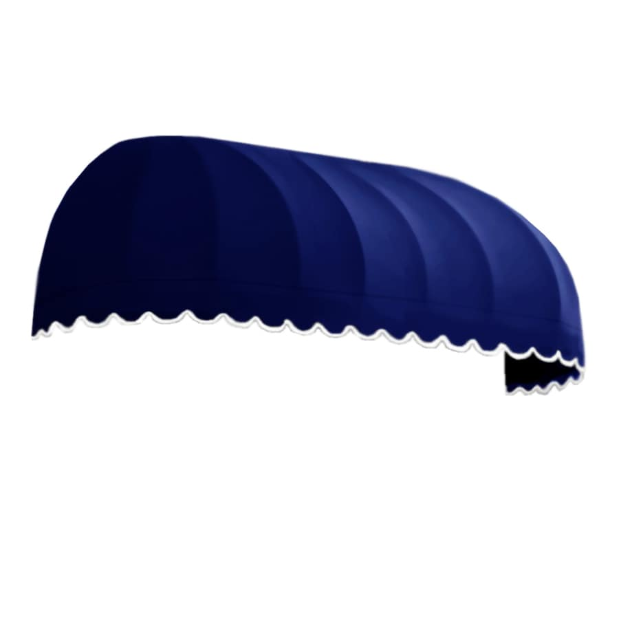 Awntech 124.5-in Wide x 24-in Projection Navy Solid Elongated Dome Window/Door Awning