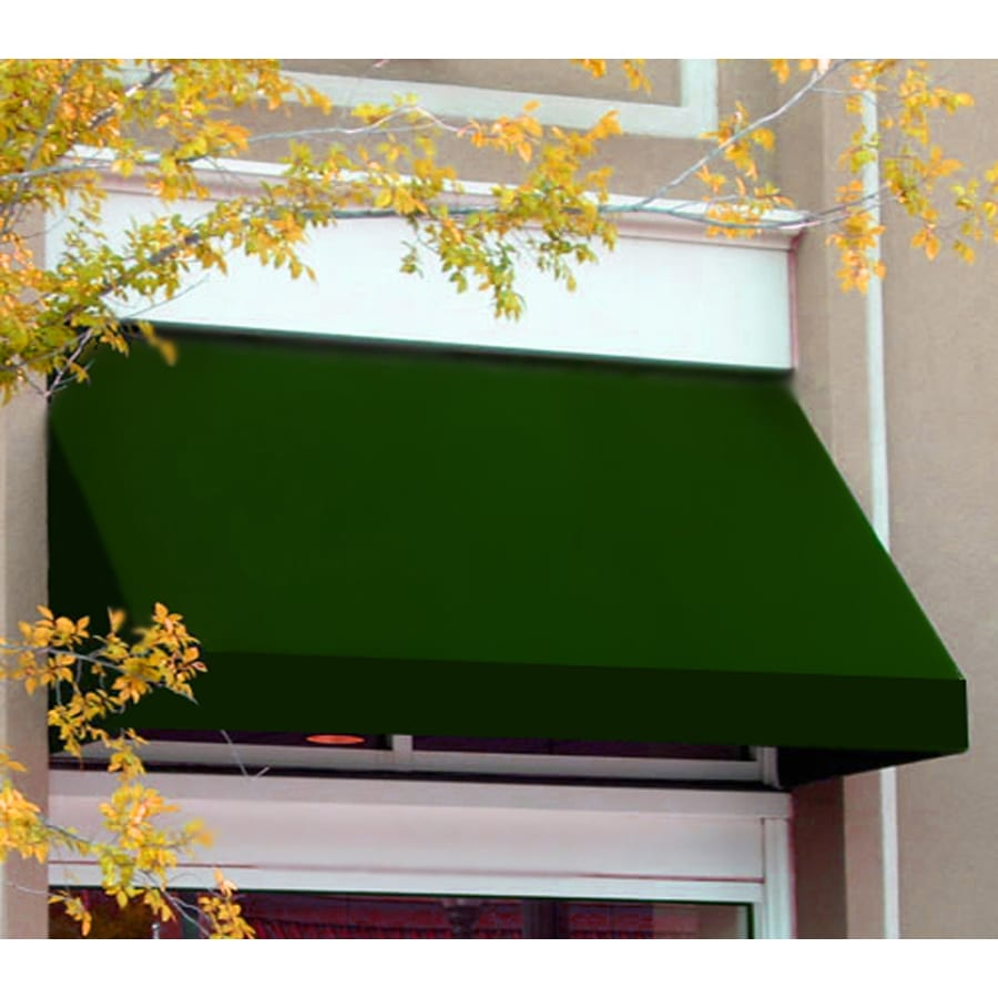Awntech 220.5-in Wide x 36-in Projection Forest Solid Slope Window/Door Awning