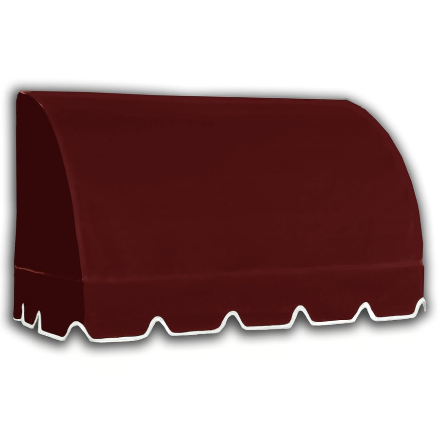 Awntech 604.5-in Wide x 36-in Projection Burgundy Solid Waterfall Window/Door Awning