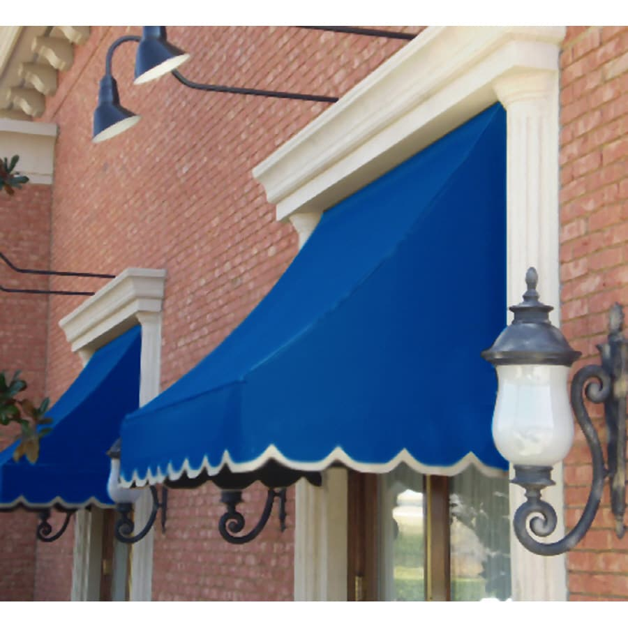 """Awntech 4' Beauty-Mark� Nantucket� (31""""H X 24""""D) Window/Entry Awning / Bright Blue"""
