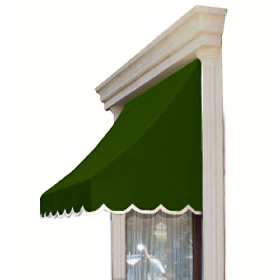 Awntech 64.5-in Wide x 24-in Projection Olive Solid Crescent Window/Door Awning