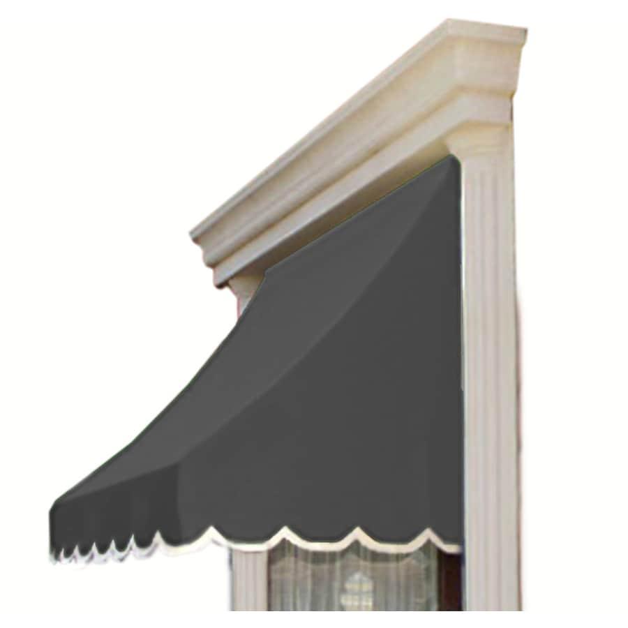 """Awntech 4' Beauty-Mark� Nantucket� (31""""H X 24""""D) Window/Entry Awning / Gray"""