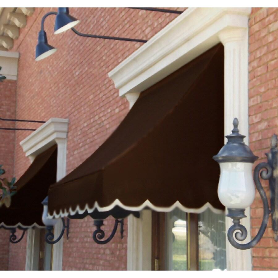 """Awntech 5' Beauty-Mark® Nantucket® (44""""H X 36""""D) Window/Entry Awning / Brown"""