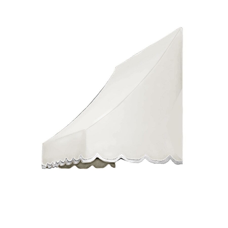 Awntech 88.5-in Wide x 24-in Projection Off-White Solid Crescent Window/Door Awning