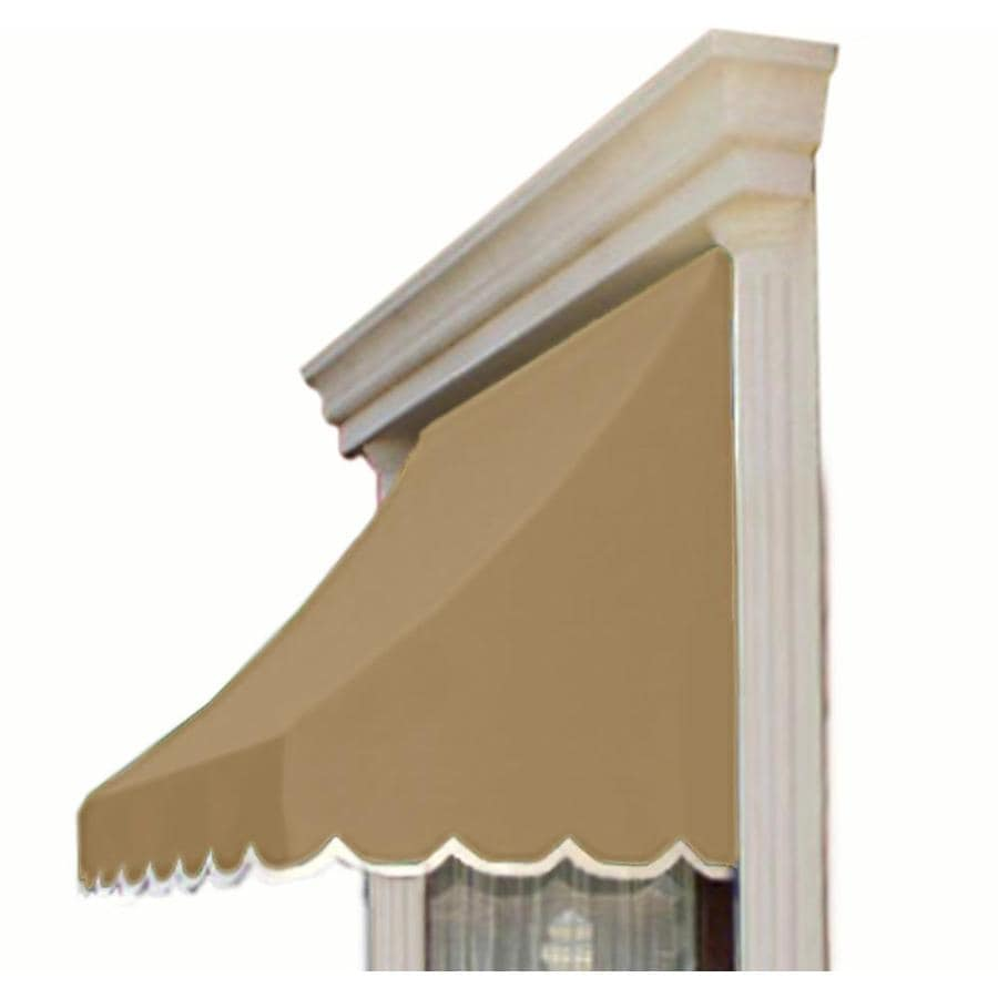 Awntech 64.5-in Wide x 36-in Projection Tan Solid Crescent Window/Door Awning
