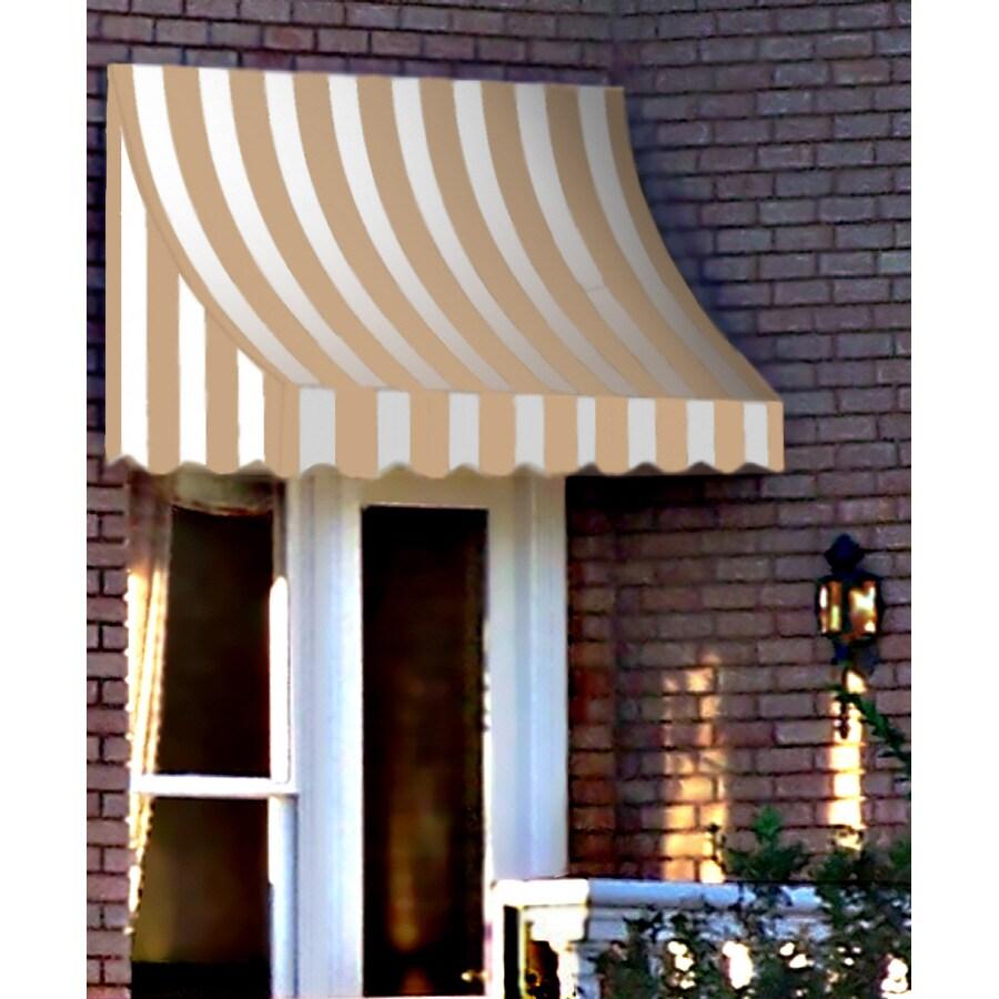 "Awntech 6' Beauty-Mark� Nantucket� (44""H X 36""D) Window/Entry Awning / Tan/White Stripe"