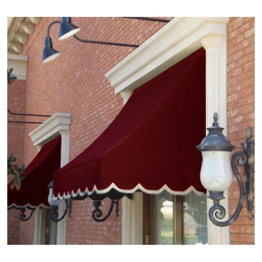 """Awntech 4' Beauty-Mark� Nantucket� (44""""H X 36""""D) Window/Entry Awning / Burgundy"""