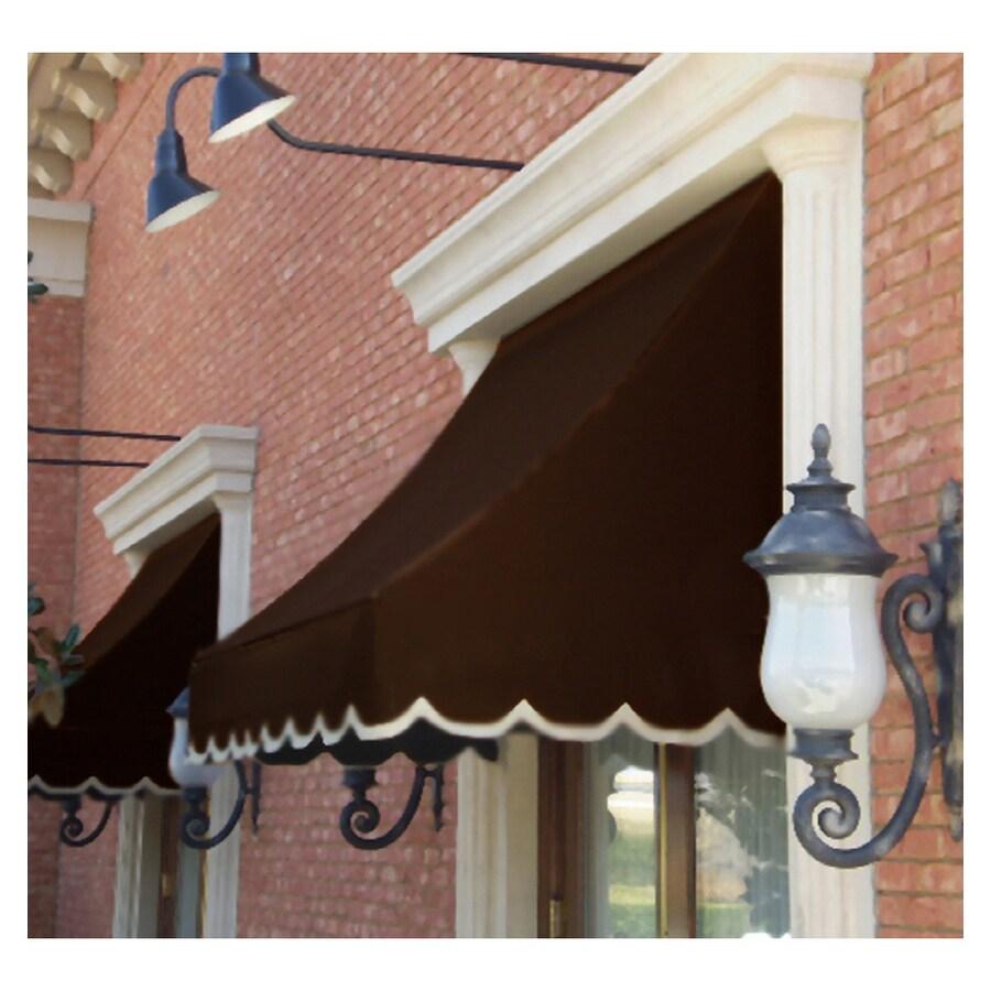 """Awntech 6' Beauty-Mark� Nantucket� (31""""H X 24""""D) Window/Entry Awning / Brown"""