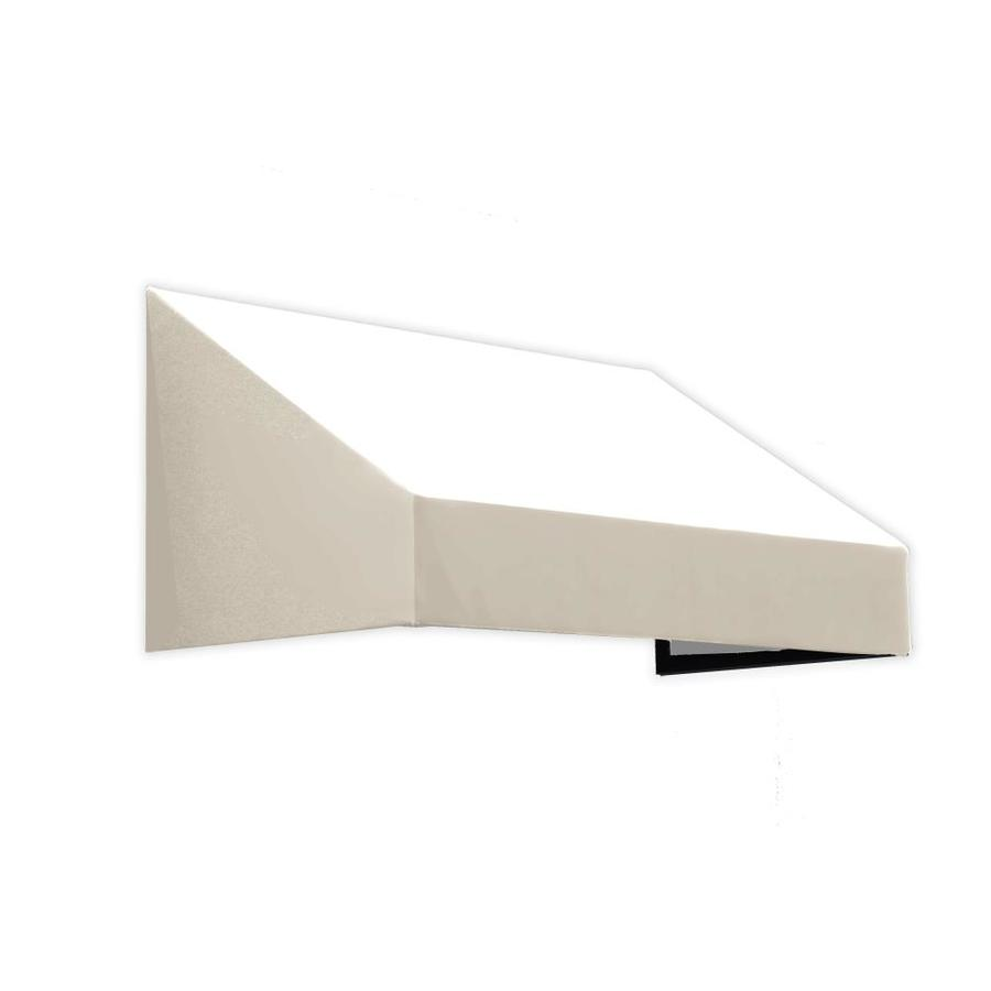 Awntech 124.5-in Wide x 36-in Projection White Solid Slope Window/Door Awning
