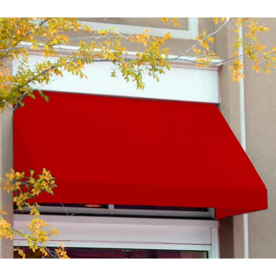 Awntech 196.5-in Wide x 36-in Projection Red Solid Slope Window/Door Awning
