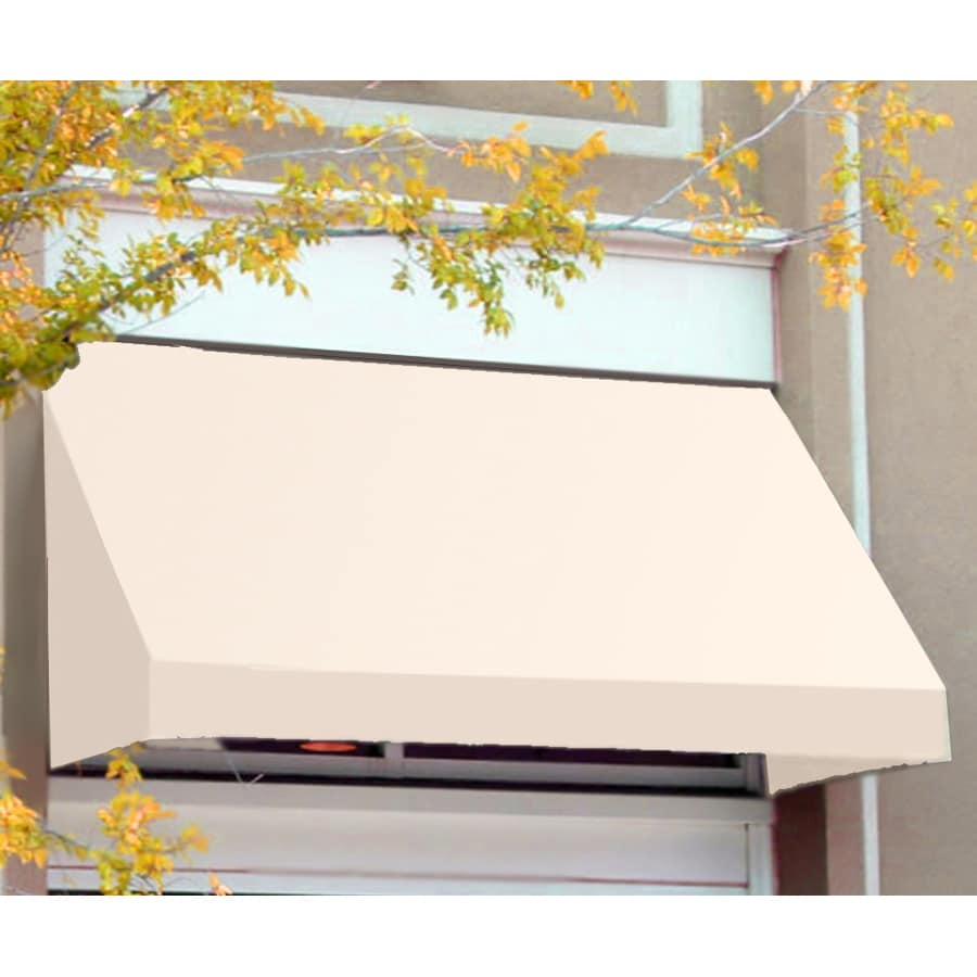 Awntech 196.5-in Wide x 36-in Projection White Solid Slope Window/Door Awning