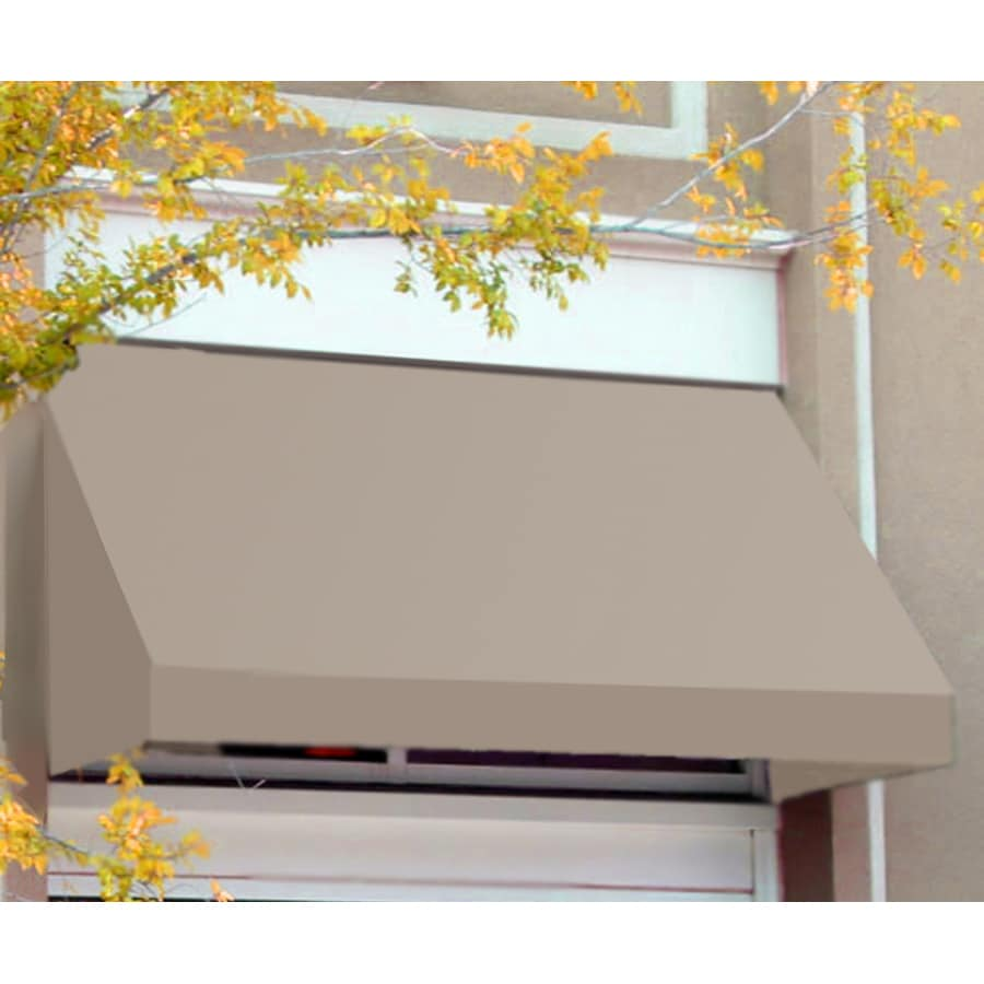 Awntech 220.5-in Wide x 36-in Projection Tan Solid Slope Window/Door Awning