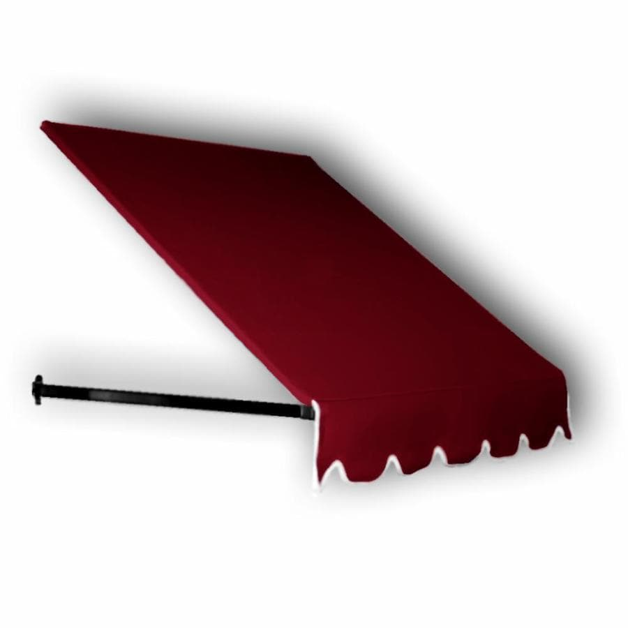 Awntech 88.5-in Wide x 36-in Projection Burgundy Solid Open Slope Window/Door Awning