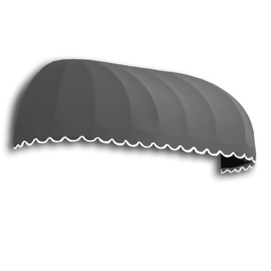 Awntech 244.5-in Wide x 36-in Projection Gray Solid Elongated Dome Window/Door Awning