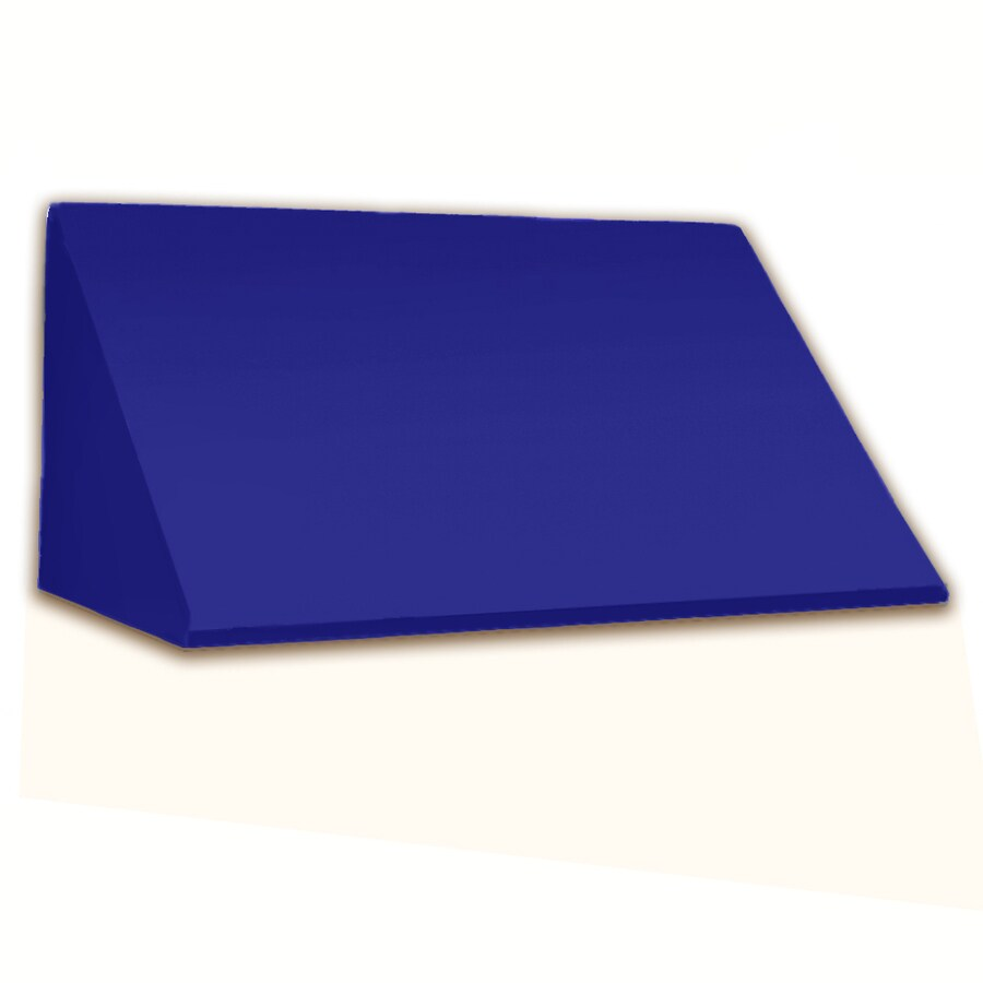 Awntech 424.5-in Wide x 36-in Projection Bright Blue Solid Slope Window/Door Awning