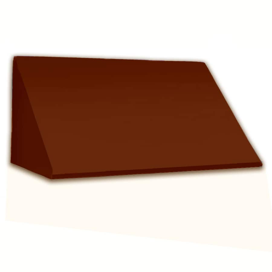 Awntech 604.5-in Wide x 36-in Projection Terra Cotta Solid Slope Window/Door Awning