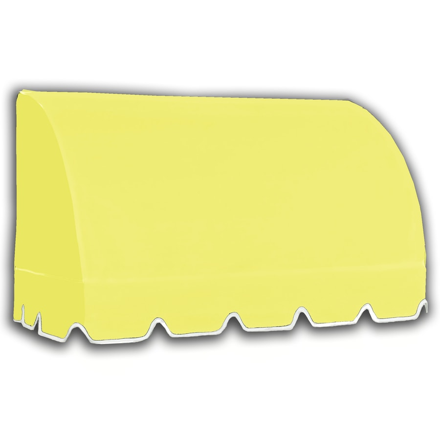 Awntech 424.5-in Wide x 36-in Projection Yellow Solid Waterfall Window/Door Awning