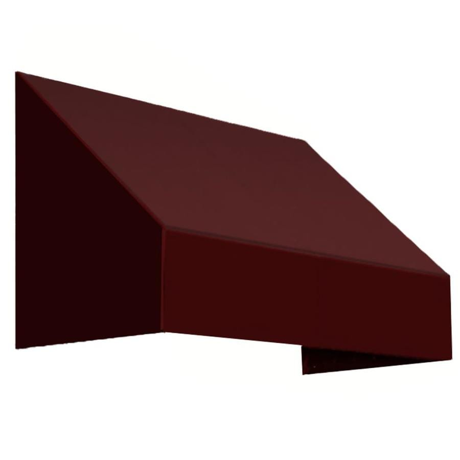 Awntech 100.5-in Wide x 24-in Projection Burgundy Solid Slope Window/Door Awning